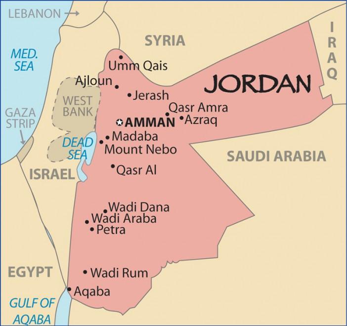 Ürdün haritası