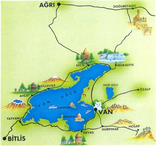 Van Gölü haritası